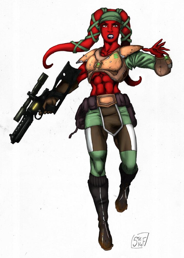 The Twi'lek Bounty Hunter - Colors by hardbodies