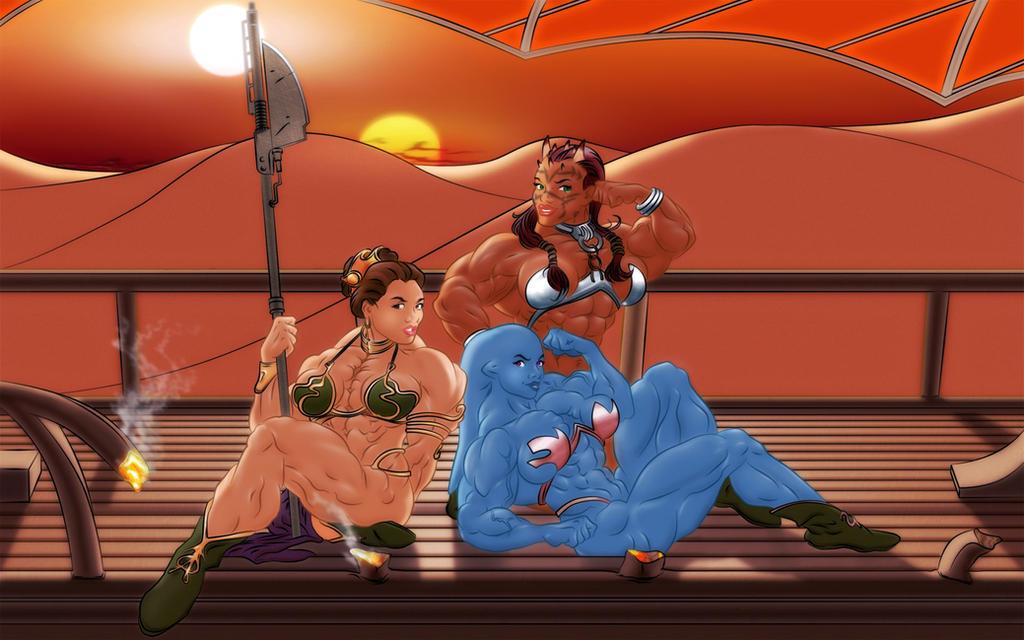 Star Wars Slave Girls by hardbodies