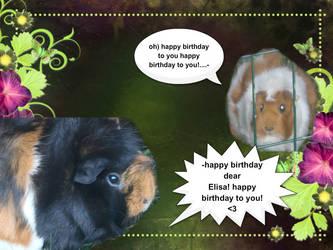 Happy Birthday Elisa! by HikoPawz