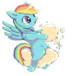 RainbowDash always drifts in the sky