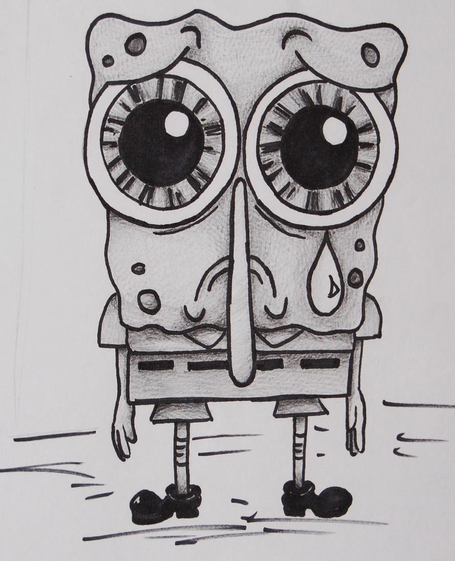 so sad spongebob by marquise de sade on deviantart