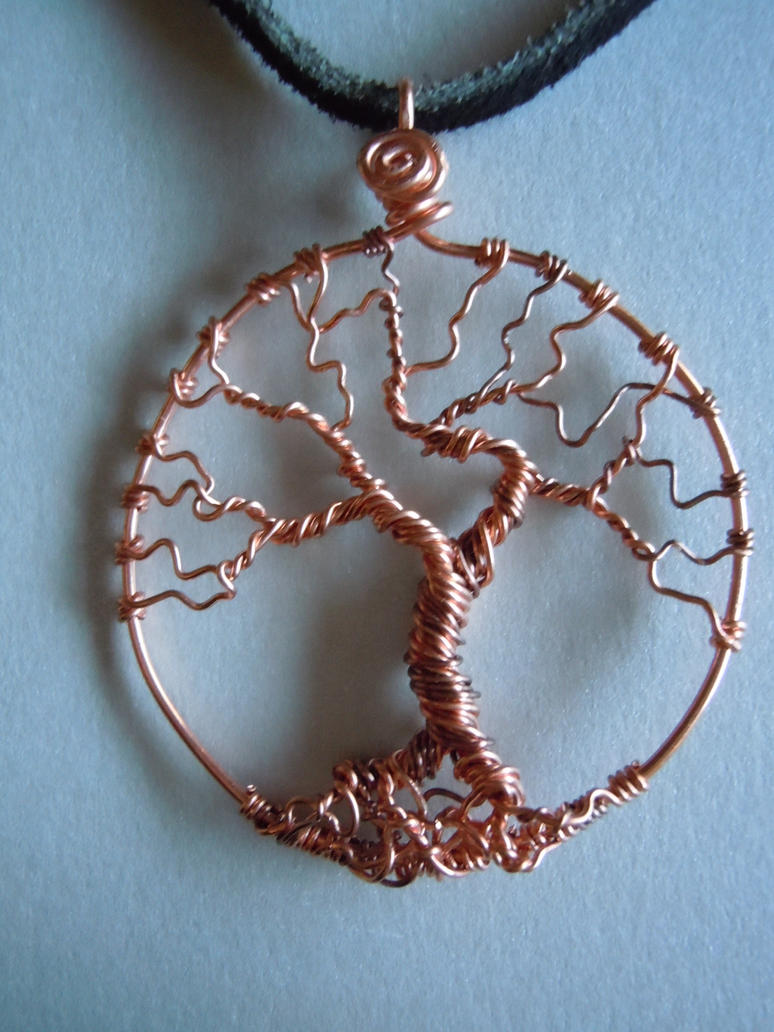 Tree of life copper wire wrapped by a sharper spectrum on for How to make a wire tree of life sculpture