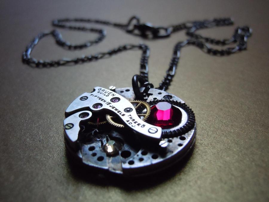 Victorian Steampunk Antique Watch Necklace by A-Sharper-Spectrum