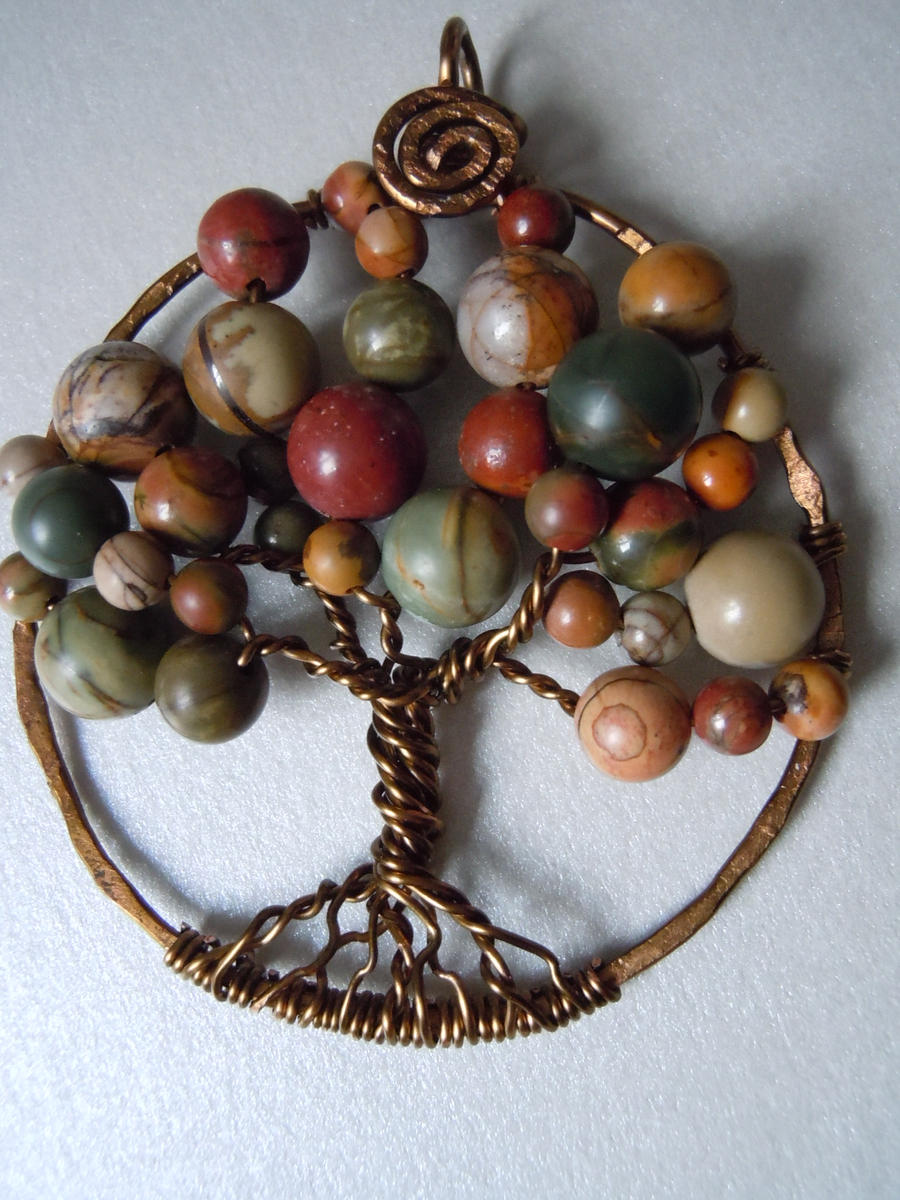 Contemporary tree of life jasper pendant by a sharper spectrum on contemporary tree of life jasper pendant by a sharper spectrum aloadofball Image collections
