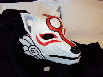 full face Okami mask by papersculptor