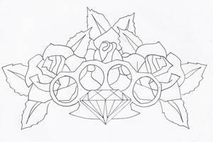 Old School Tattoo Sketch by 3FF3CT