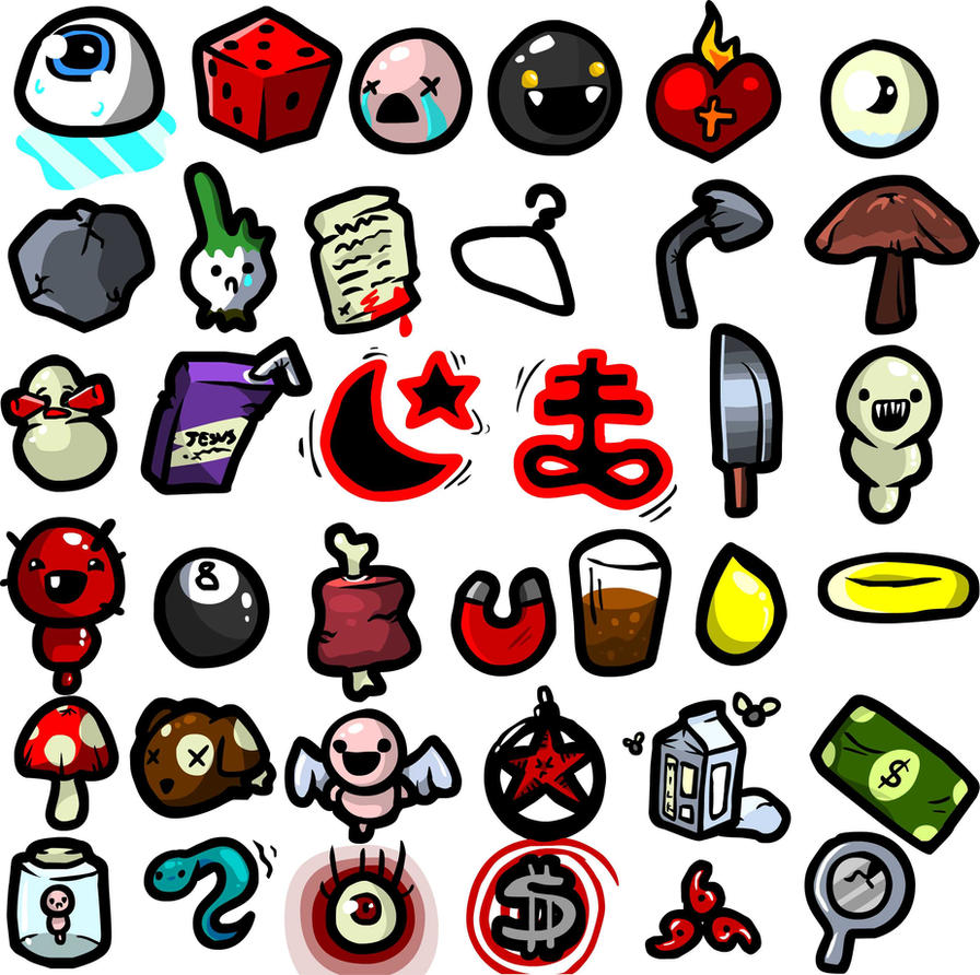 A Bunch Of Isaac Items By TKSaint On DeviantArt