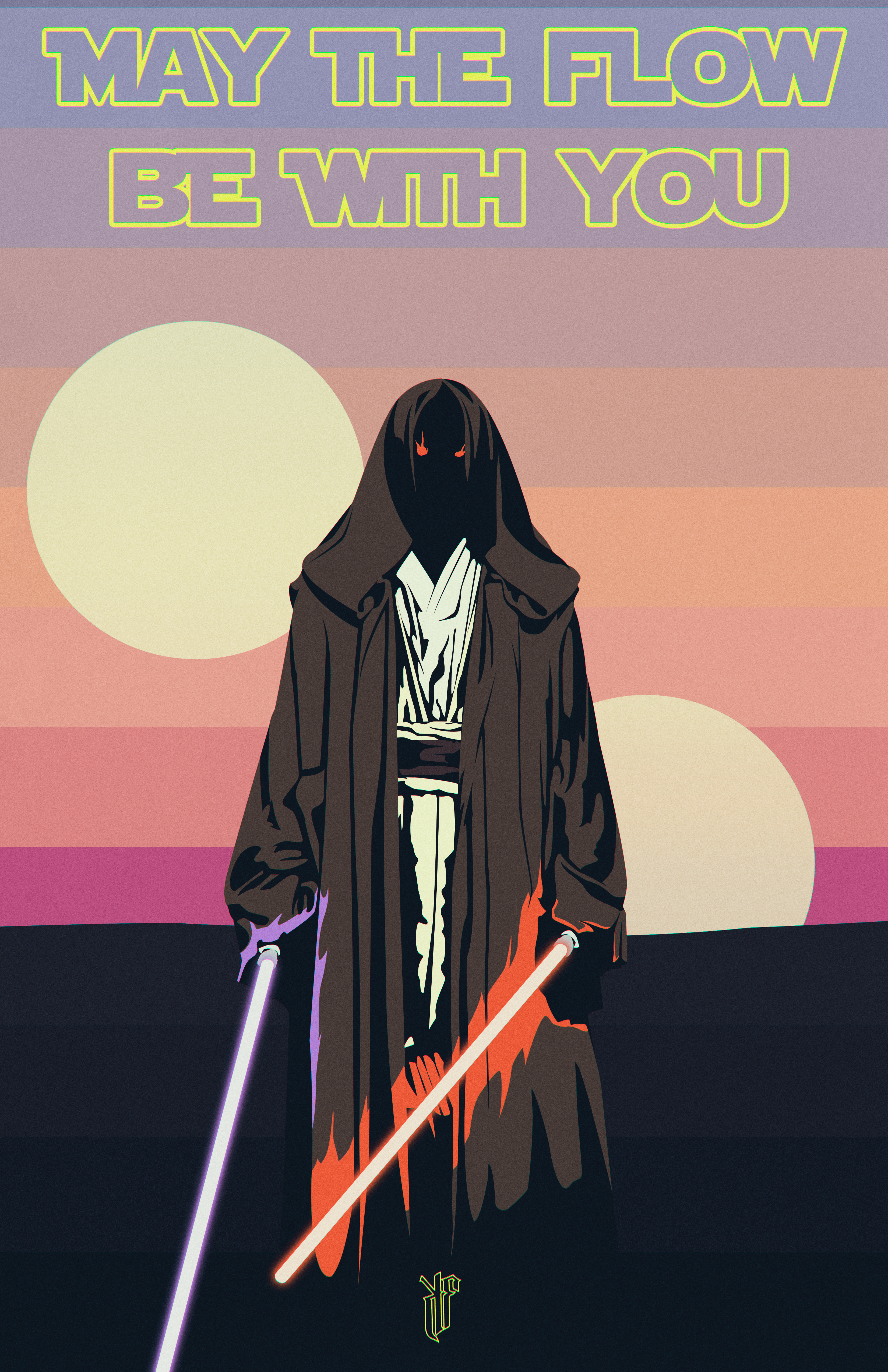 May The Flow Be With You [Poster] by PlushGiant
