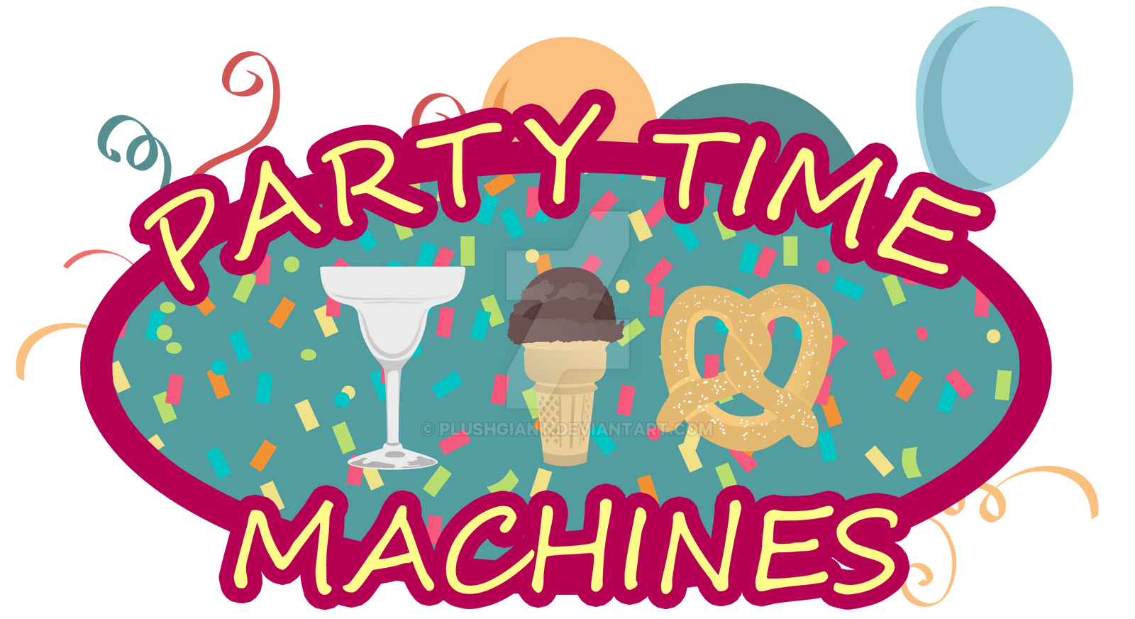 Party Time Machines [Logo] by PlushGiant