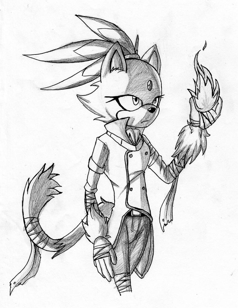 Sonic boom blaze the cat by makthehedge01 on deviantart for Blaze the cat coloring pages