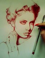 Love red pen by IamLesFleurs