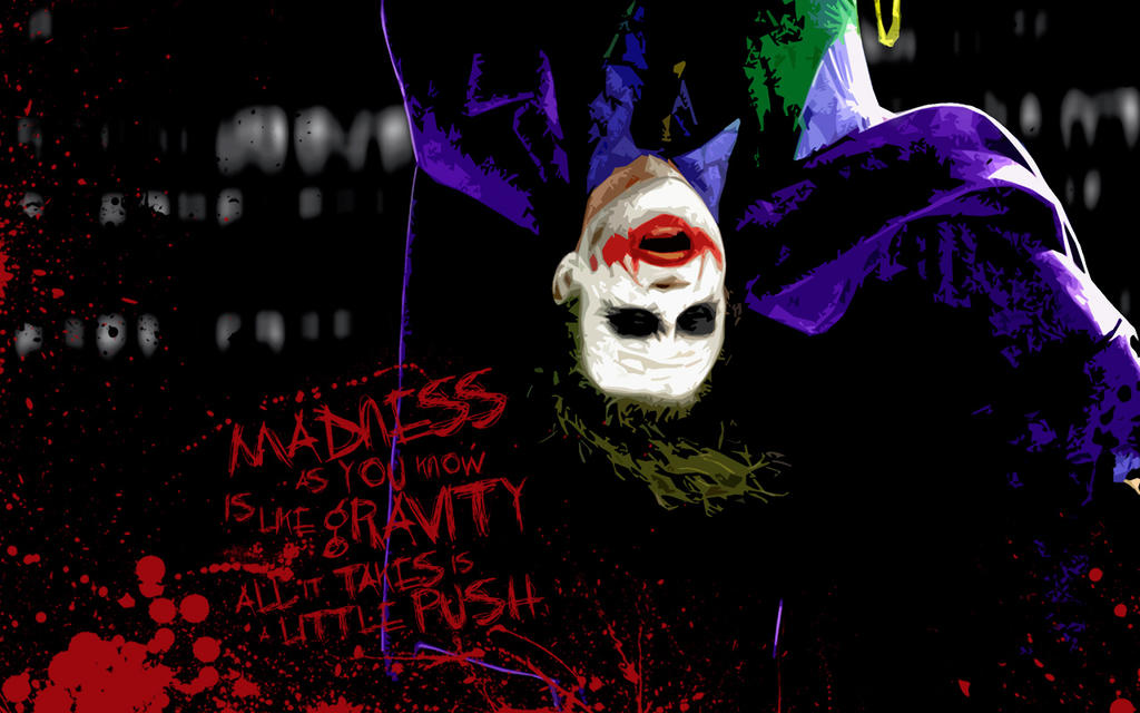 jokers insanity in batman the dark knight movie When the movie the dark knight opens thursday, thousands of people will  i  really wanted to get back to the idea of batman fighting insane.