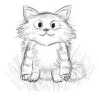 Bleh, a Cat Sketch by randomouscrap