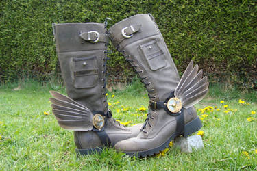 Hermes' Steampunk Bootwings by rain2shine
