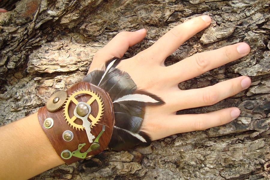 Steampunk handcuff fluffy by rain2shine