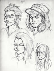 Character Sketches by alpha-denim-recruit
