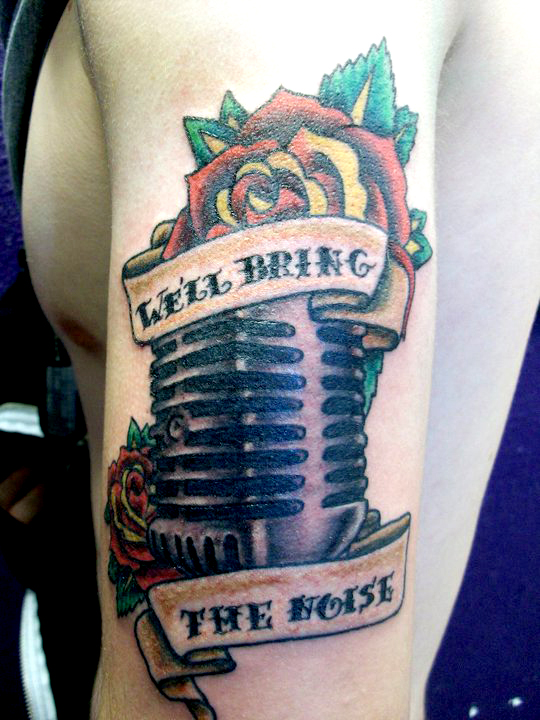 microphone tattoo by hollywood465599663 on deviantart. Black Bedroom Furniture Sets. Home Design Ideas
