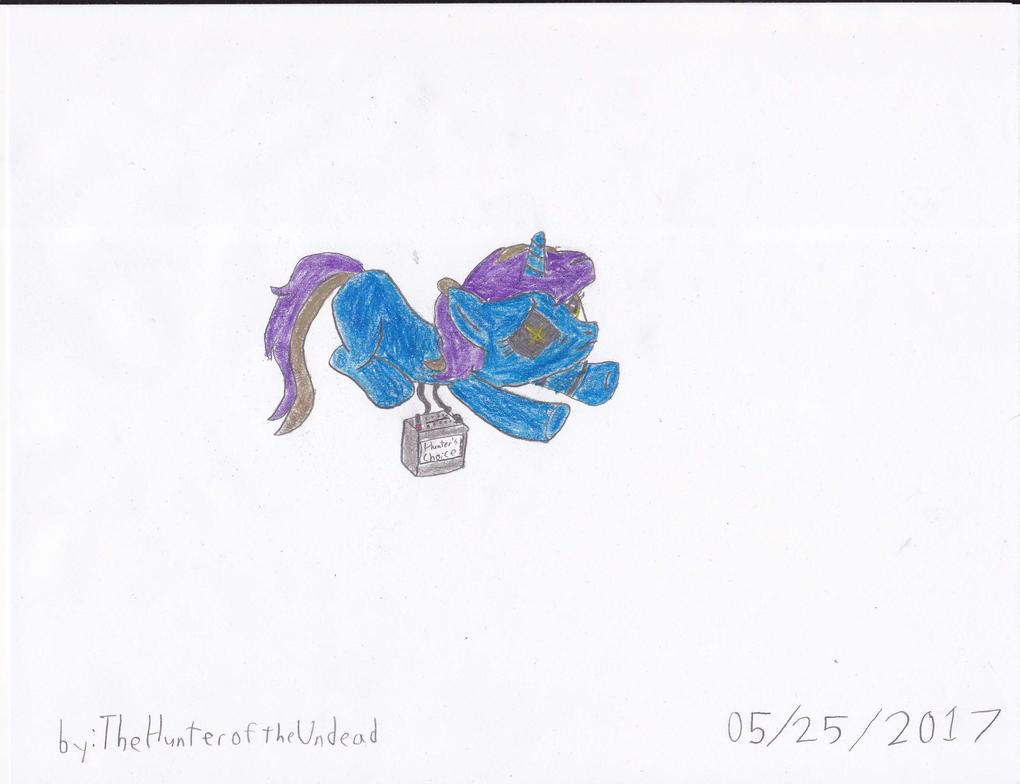 Midnight Sapphire, the Robo Pone by TheHunteroftheUndead