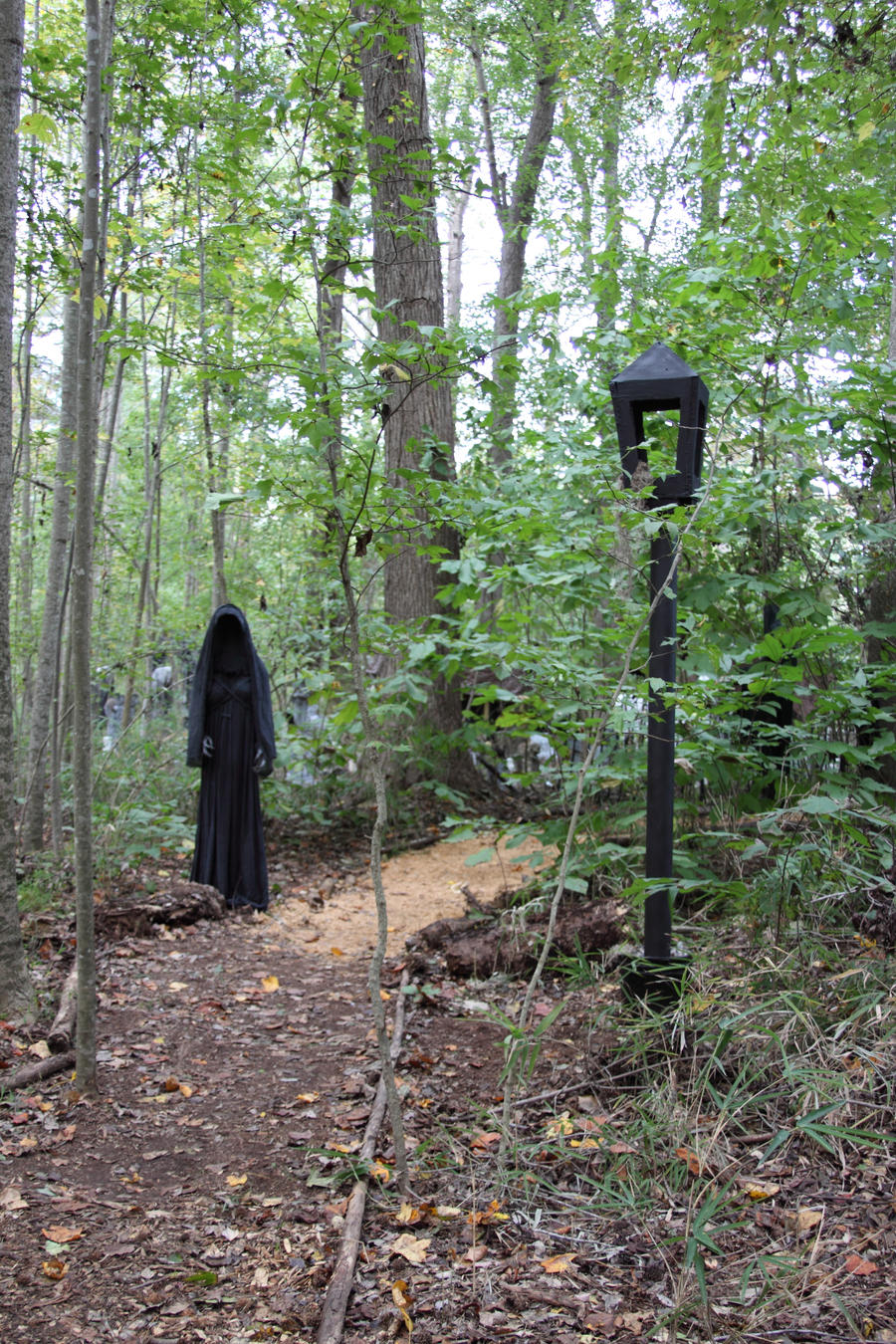 Pvc lamp post bing images for Haunted woods ideas