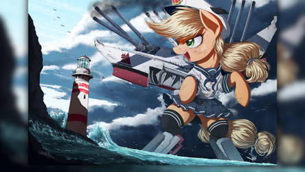 Wallpaper Engine - Applejack All Hooves On Deck! by BigMemoire
