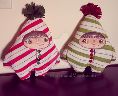 Candy Cane Twins by Jelayer