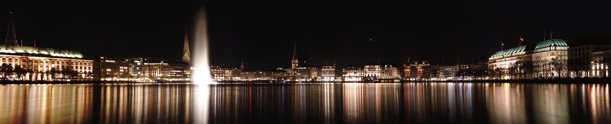 Alster panoramic, Hamburg by Meduana