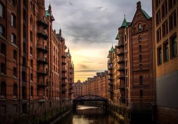 Hamburg Speicherstadt by Meduana, Germany. by Meduana