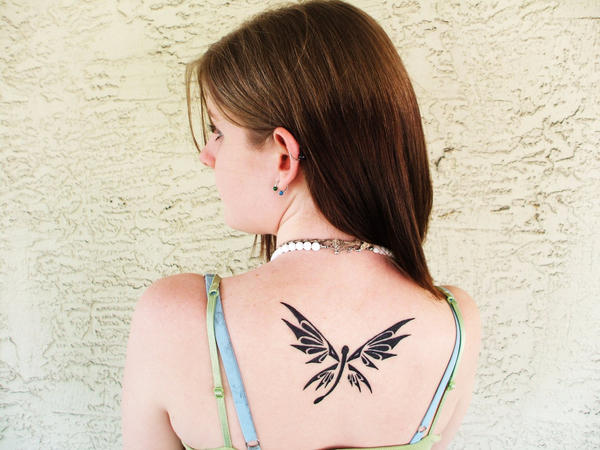 The new and improved... - dragonfly tattoo