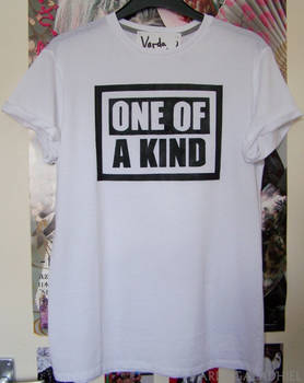 'One Of A Kind' customised t-shirt
