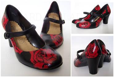 Custom Rose heels