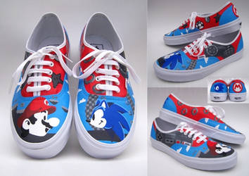 Commission: Sonic and Mario shoes