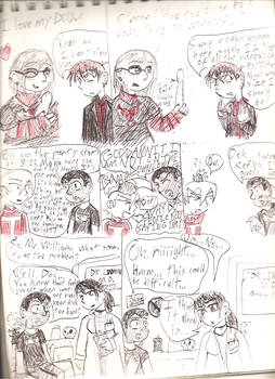 Awful hand drawn comics.