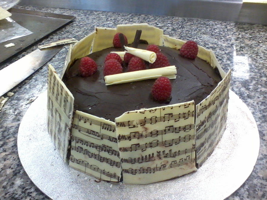 Music note chocolate cake by TheOwleyBaker on DeviantArt