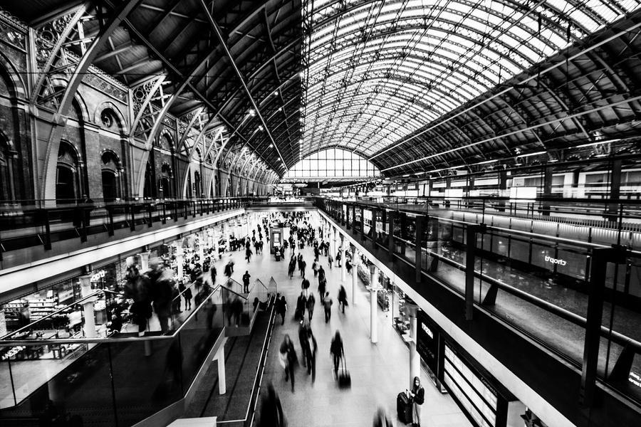 St. Pancras Station by sheiberart