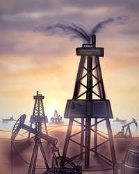 Oil Fields by SomeGuyWhoDrawsArt