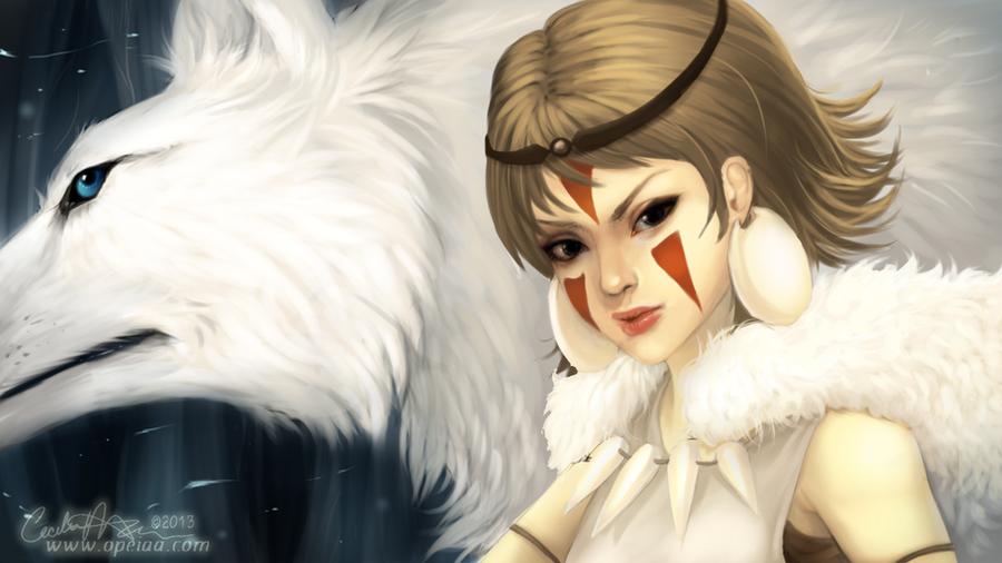 Princess Mononoke by Opeiaa