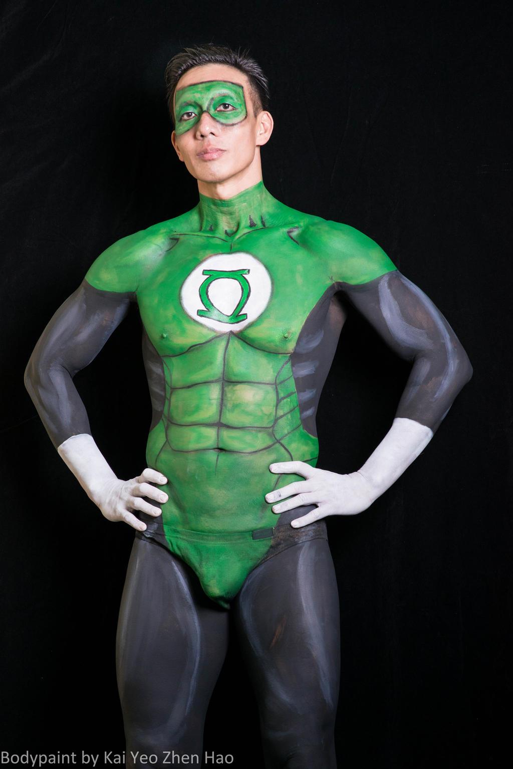 Green Lantern Face Paint Green Lantern Body Paint