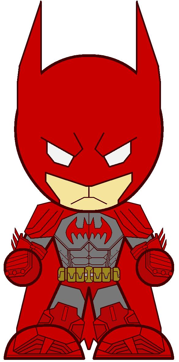 Chibi Batman In Red By Dannyboy36