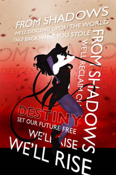 RWBY From Shadows Typography Poster Blake