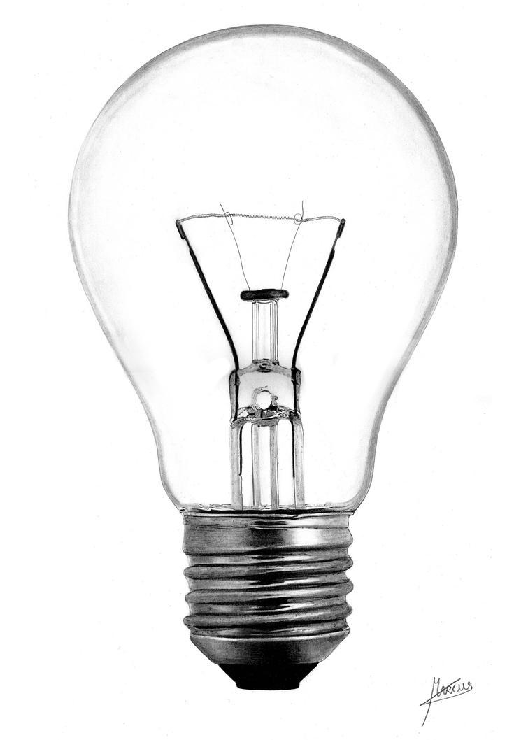 Line Art Light Bulb : Lightbulb by marcuspeyre on deviantart