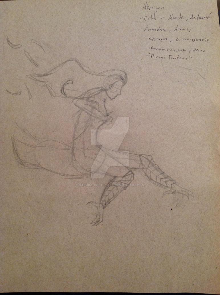 Morrigan Sketch by sakura-ino-hinata
