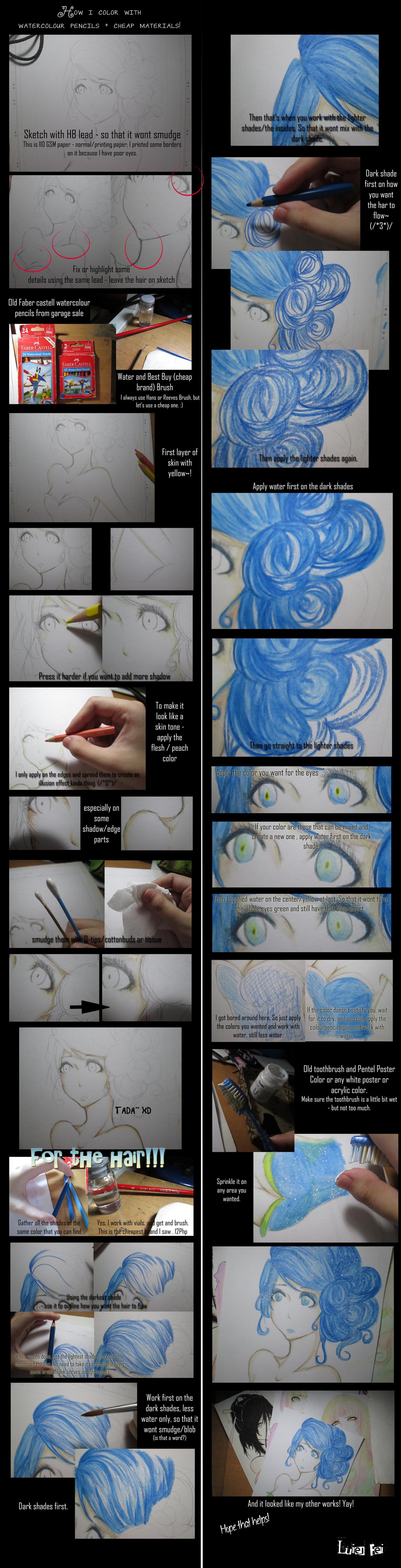 Tutorial Watercolor Anime Watercolor Pencil Tutorial
