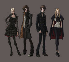 Vampires character designs by synthezoide