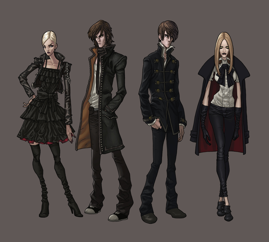 Character Design Deviantart : Vampires character designs by synthezoide on deviantart