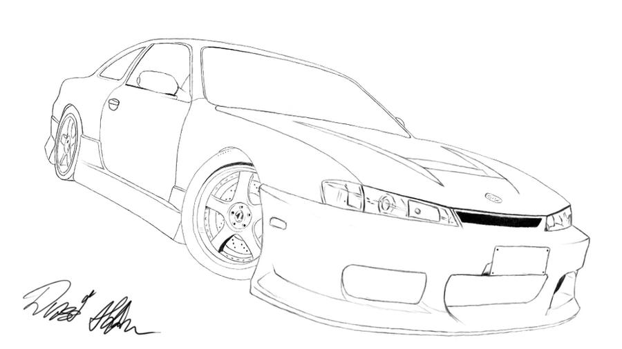 Coloring Nissan Silvia S13 Coloring Pages