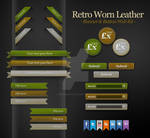 Worn Leather Buttons Banners