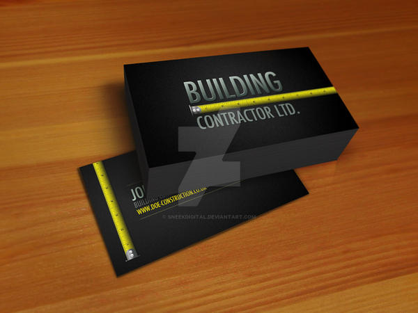 Construction business card by sneekdigital on deviantart construction business card by sneekdigital colourmoves