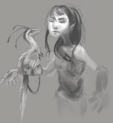 Girl with Velociraptor