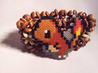 Charmander Hama Bracelet by Retr8bit
