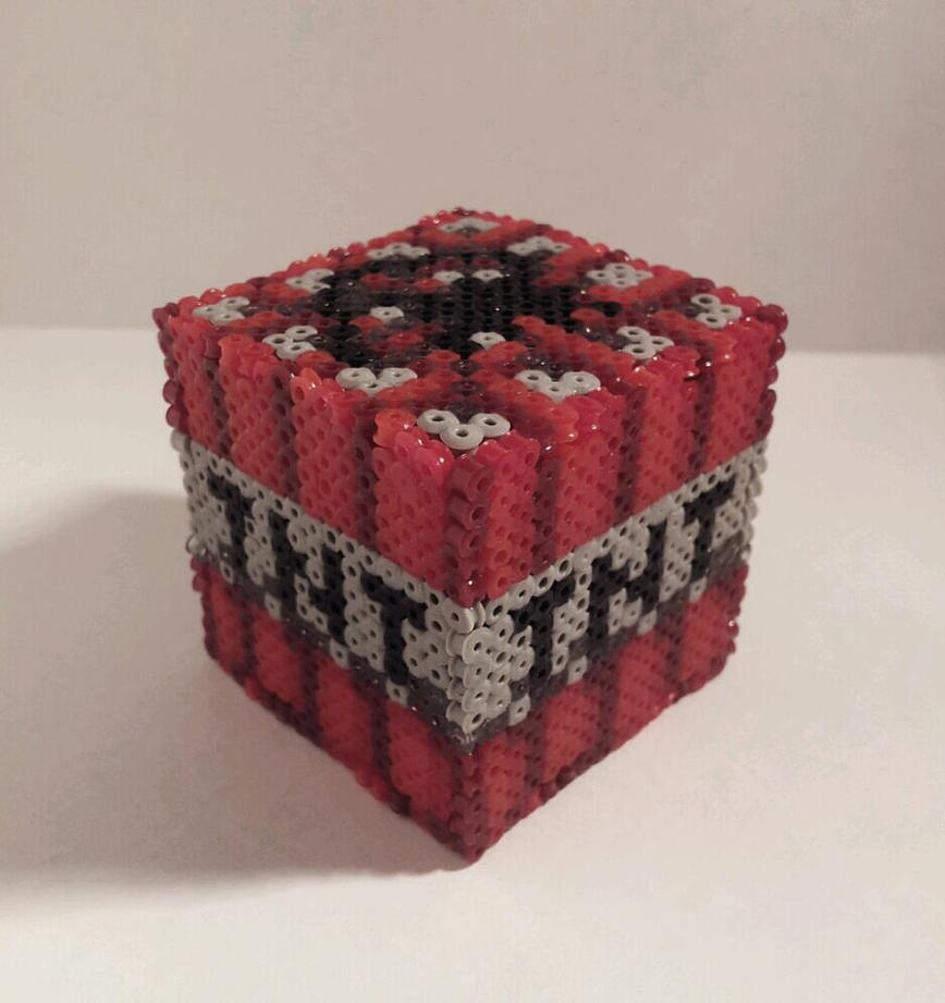 Minecraft hama tnt block by retr8bit on deviantart for Minecraft tnt block template
